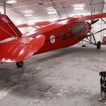 The hangar 1931 Fairchild Pilgrim   Alaskafoto - Aircraft photography, Alaska photographer, aircraft portraits