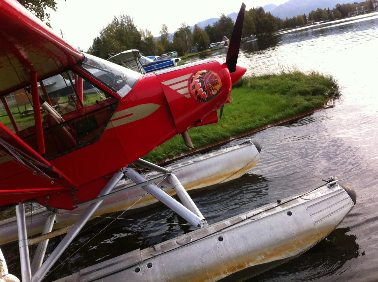 Cub Nose Art at Lake Hood   Alaskafoto - Aircraft Photography