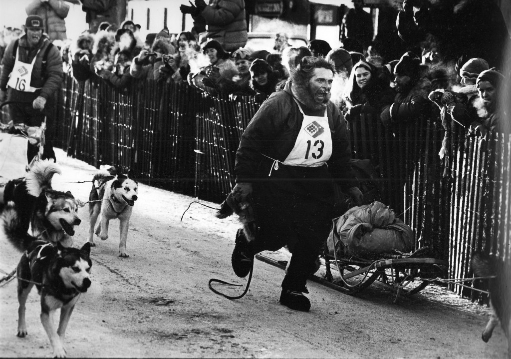 Iditarod - 1049 mile race Dick Mackey in finish | Alaskafoto - Alaska Photography & Alaska Aviation