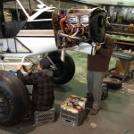 Working on the cowling | Alaskafoto - Alaska Aircraft photography & Alaska Air Cargo photography