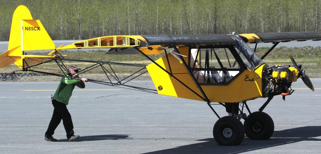 Piper J3, experimental aircraft - Top environmental portrait & Aircraft photography l Alaskafoto - Alaska photography
