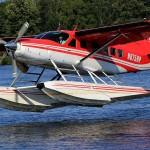 Cessna 208 on floats landing | Alaskafoto - Alaska Aircraft photography & Alaska Air Cargo photography