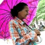 Woman with sun umbrella   Alaskafoto - Best Alaska Aircraft photography & Alaska Air Cargo photography