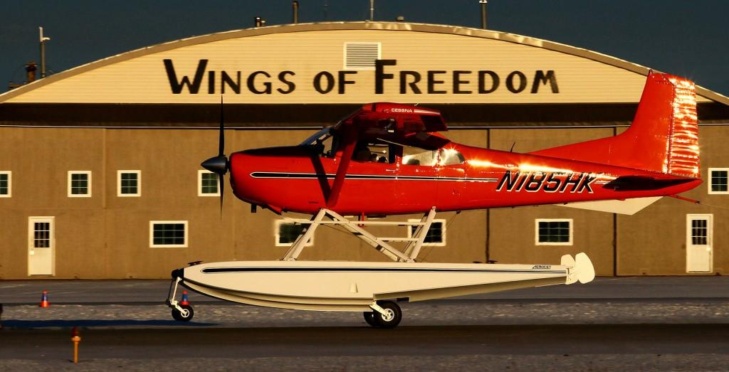 Cessna 185 lifting off from runway 25 at PAMR - Alaska photography & environmental portrait l Alaskafoto - Aircraft photography