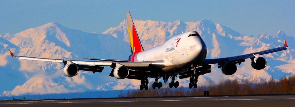 Asiana Cargo Jet at PANC - airplane photographer & Aircraft portraits | Alaskafoto - Airplane photography