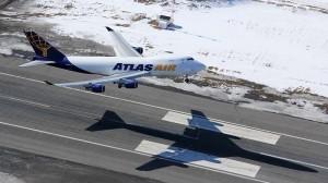 Atlas 747 taking off at PANC | Alaskafoto - Alaska Aircraft photography & Alaska Air Cargo photography