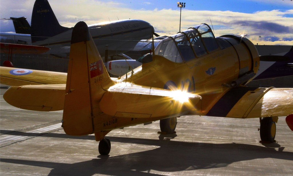 Harvard Trainer at Alaska Airmen Association - Best Alaska photography & environmental portrait l Alaskafoto- Aircraft photography