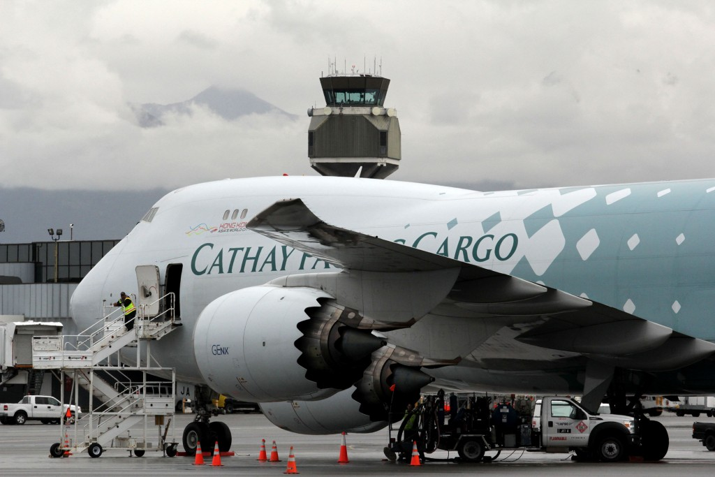 Boeing 747-800 at ANC - Alaska air cargo anchorage | Alaskafoto - Top Alaska aircraft portraits