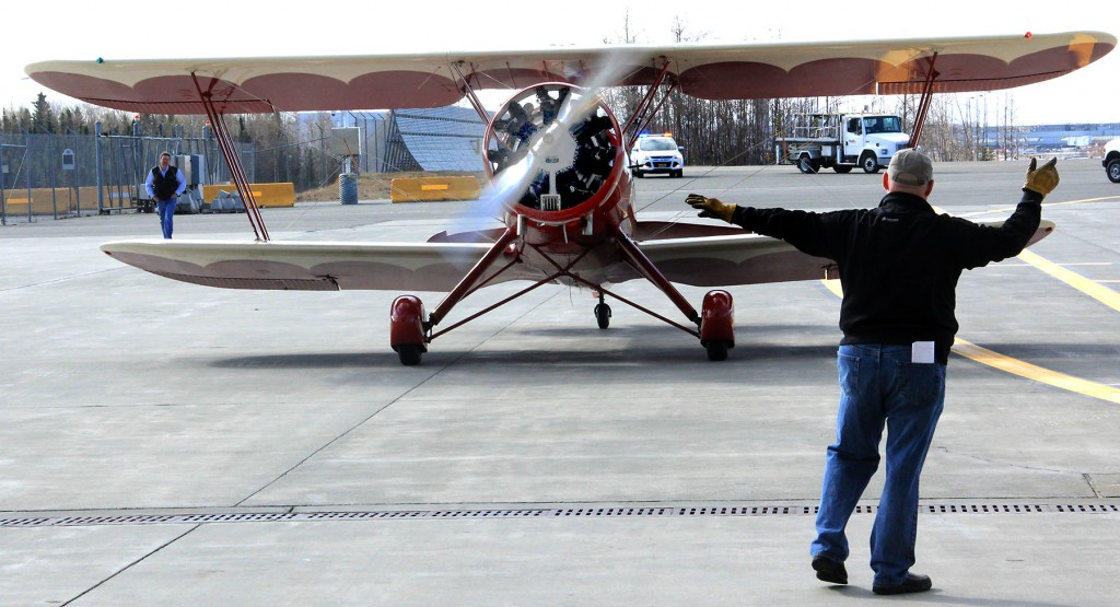 A 1942Waco UPF7 at TSAIA - Top Aircraft portraits Alaska   Alaskafoto - environmental portrait & portrait photographers Alaska