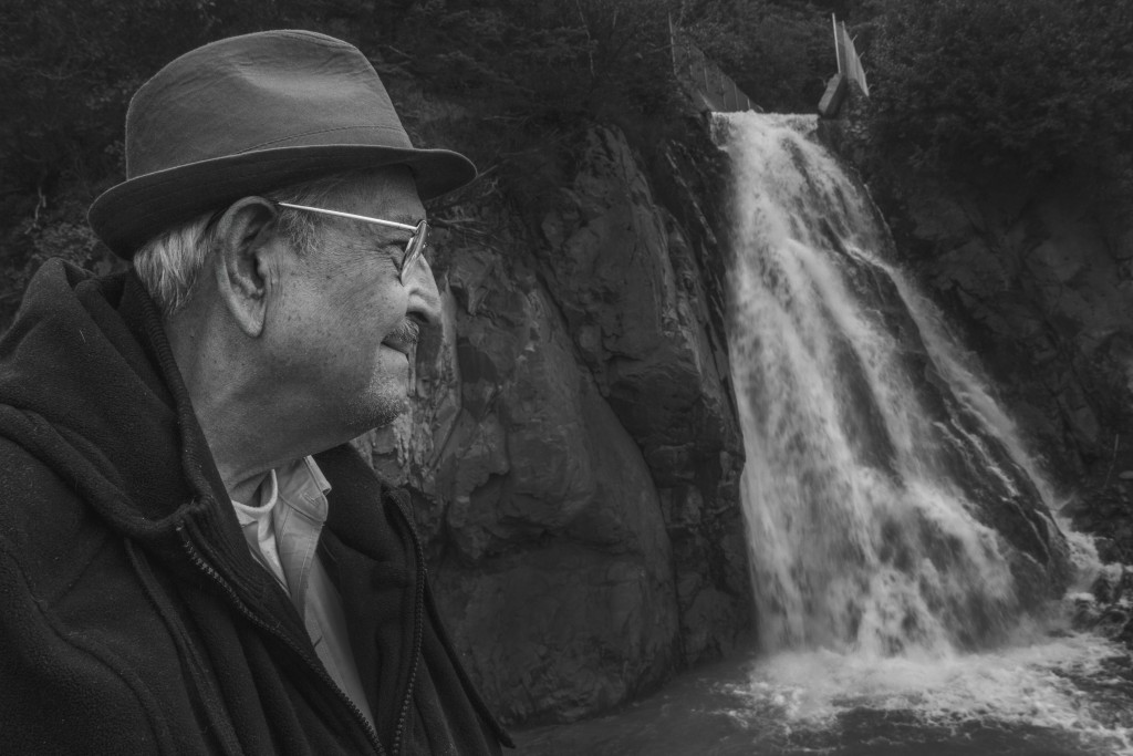 My friend Manuel visiting the waterfall, Alaska this past summer. Photo by Rob Stapleton/Alaskafoto