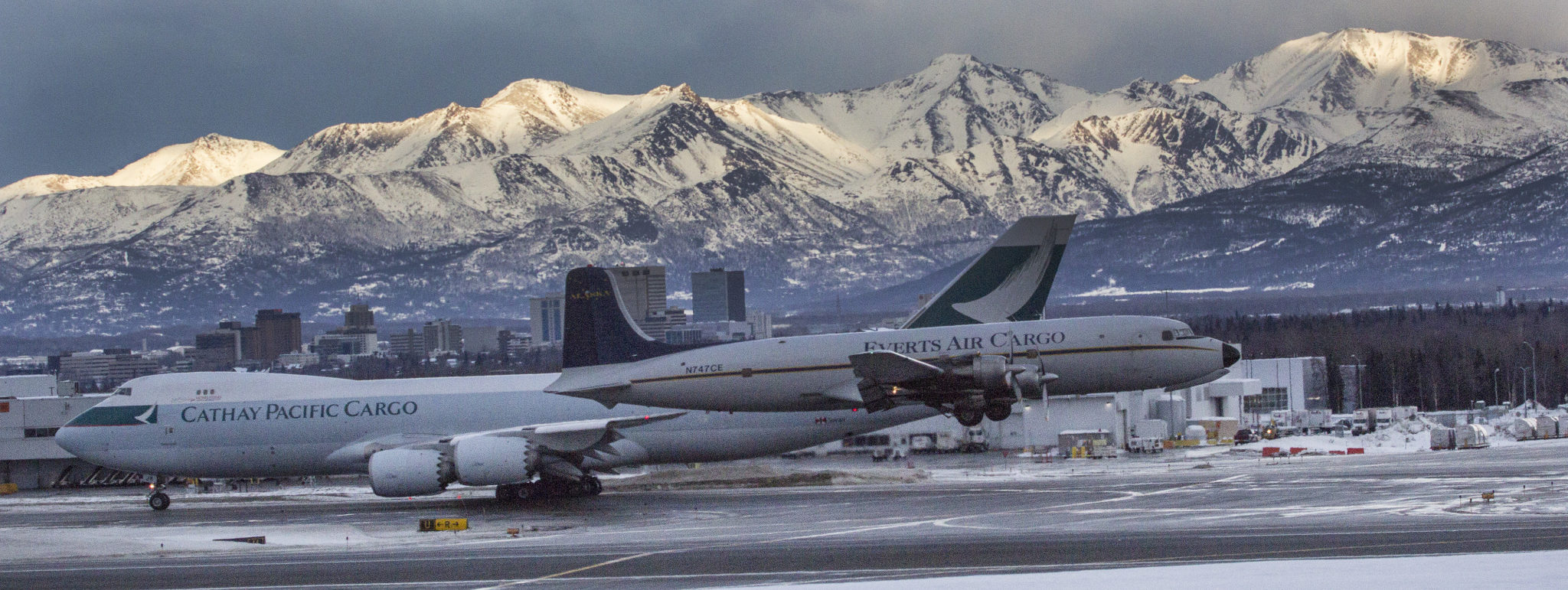 Aircraft photographed at Ted Stevens Anchorage International Airport