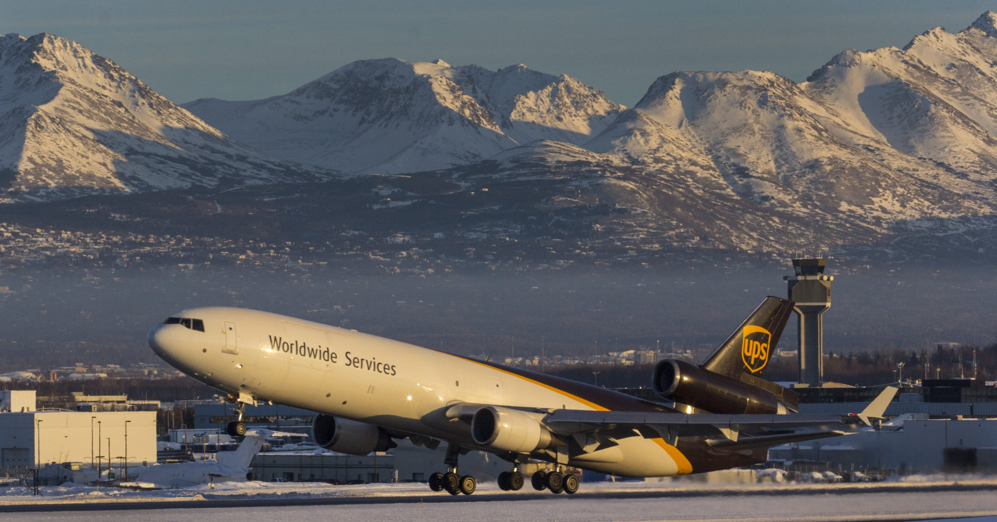 UPS MD-11 rotating at Ted Stevens Anchorage International Airport