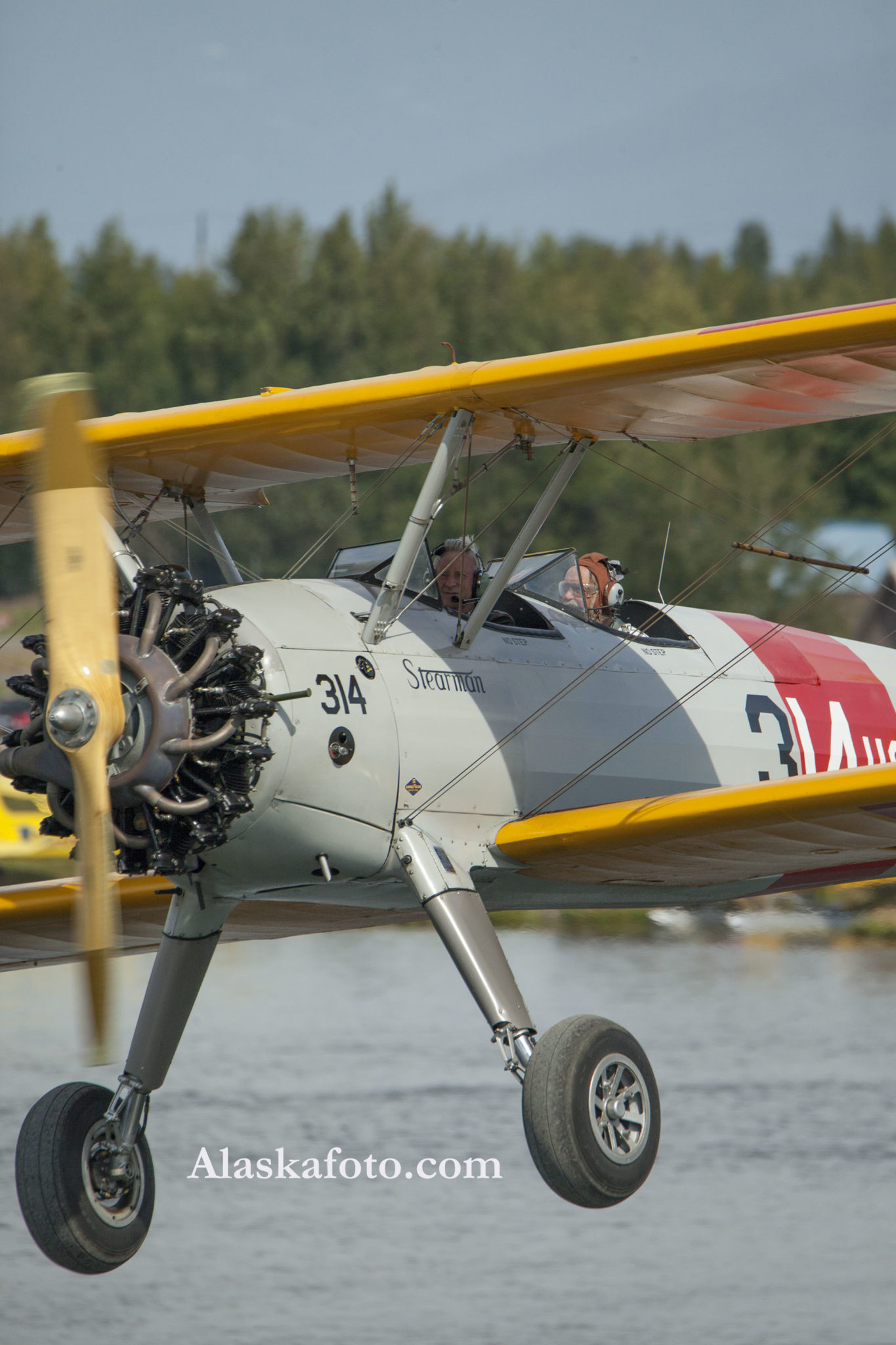 Alaska, aviation, biplane, Stearman, aviation photography