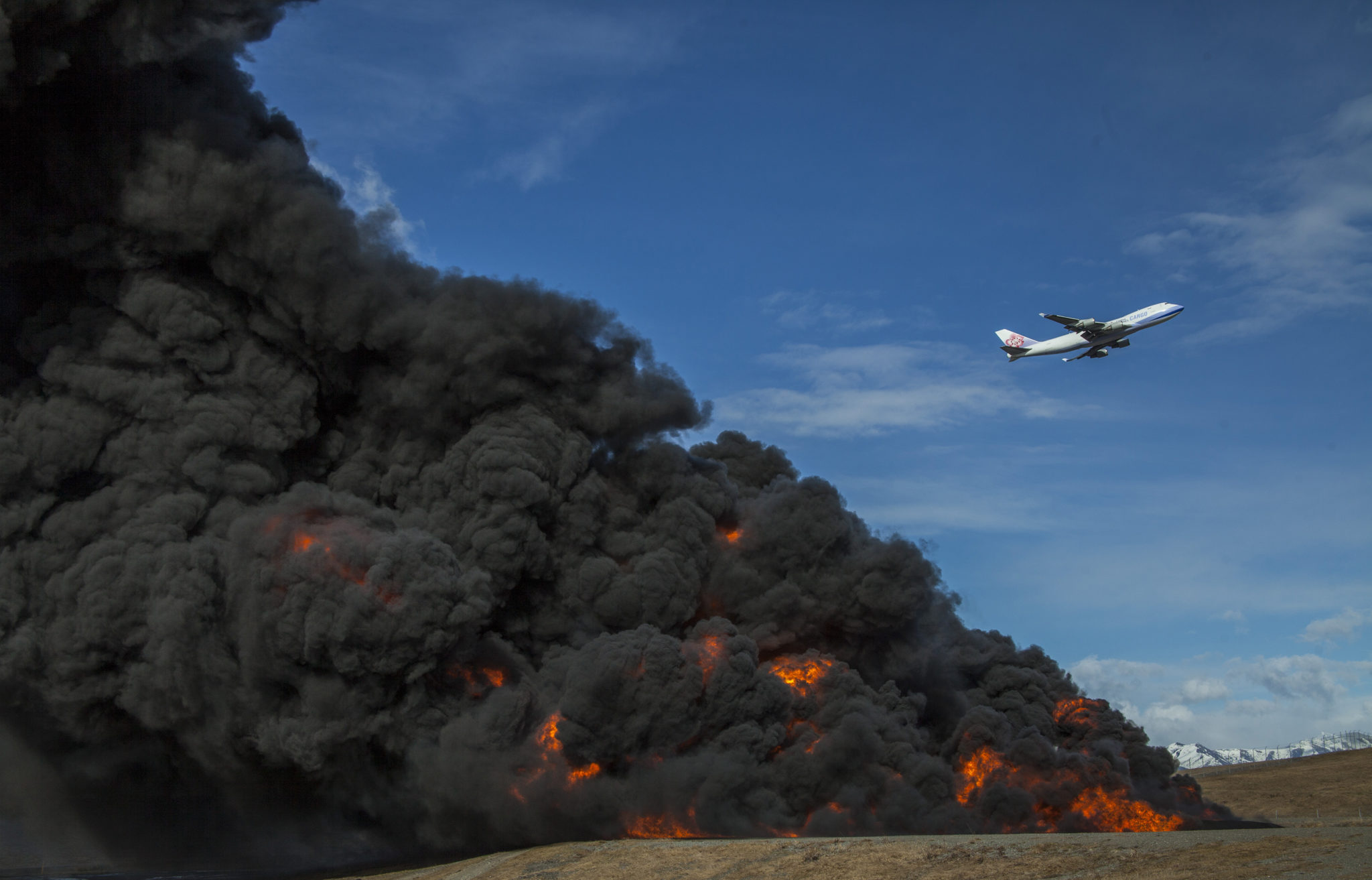 Practice Burn and Cargo Jet Images | Alaskafoto | Aircraft Photography