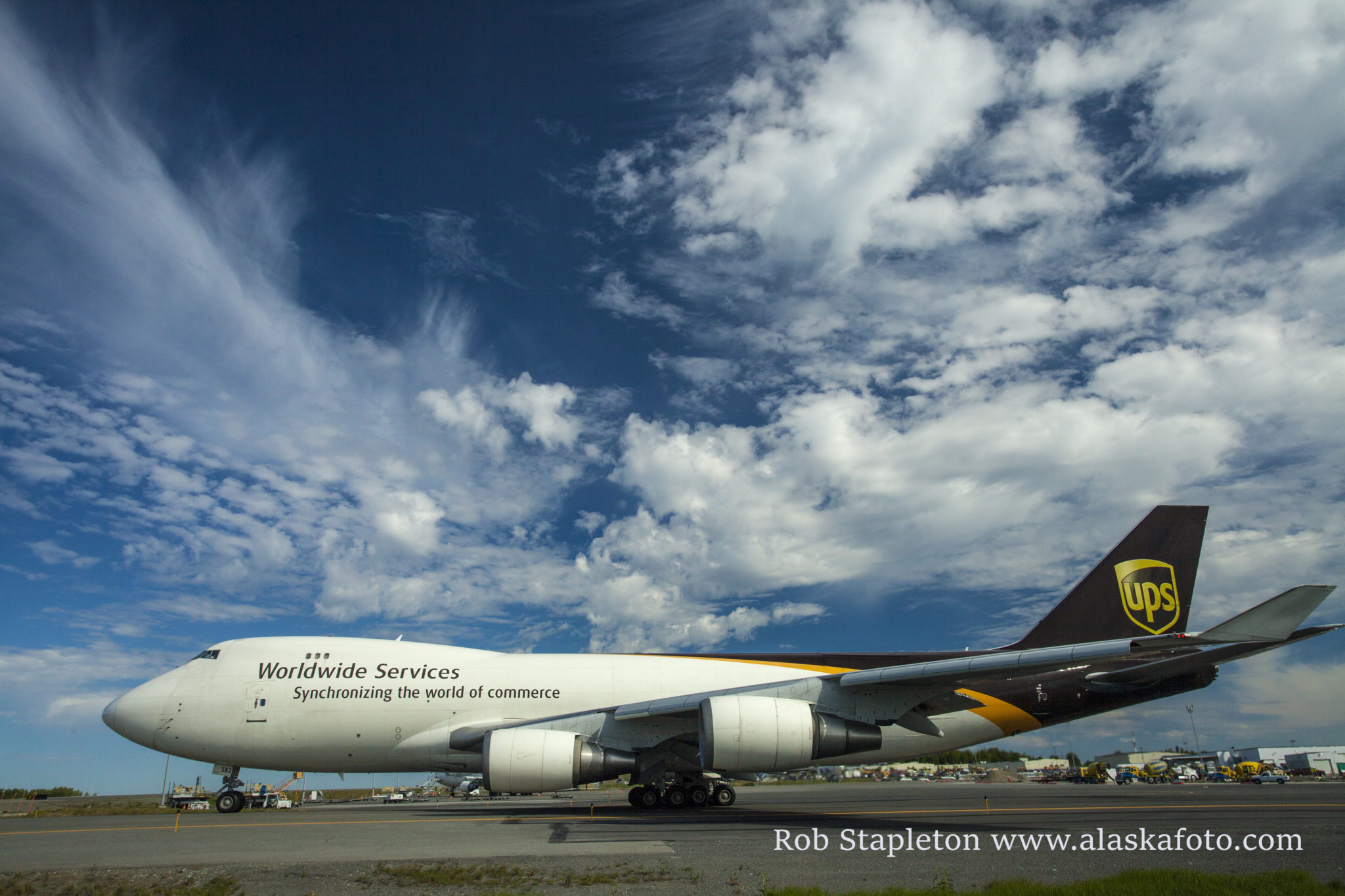 UPS Boeing 747F taxing at Ted Stevens Anchorage International Airport